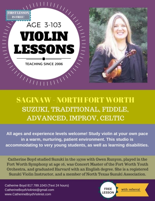 Violin Teacher in Saginaw, North Fort Worth Texas